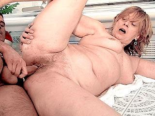 BBW Pussy Rammed by a Stiff Cock